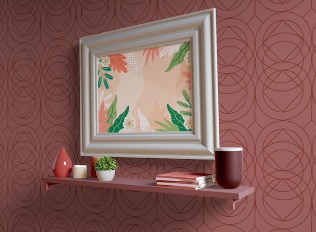 Wit schilderij frame met lege ruimte