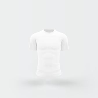 Wit t-shirt drijvend op wit