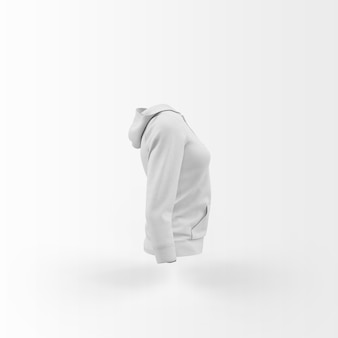Wit vest drijvend op wit