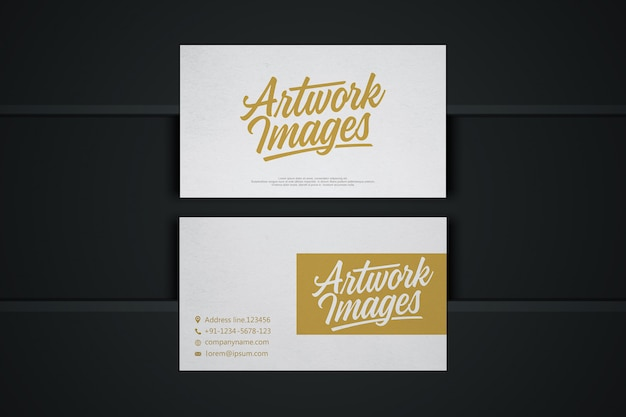 Wit visitekaartje mockup met logo