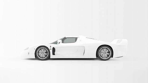 Witte auto geïsoleerd