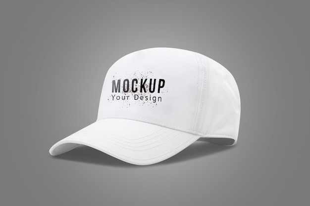 Witte baseball cap mock up sjabloon