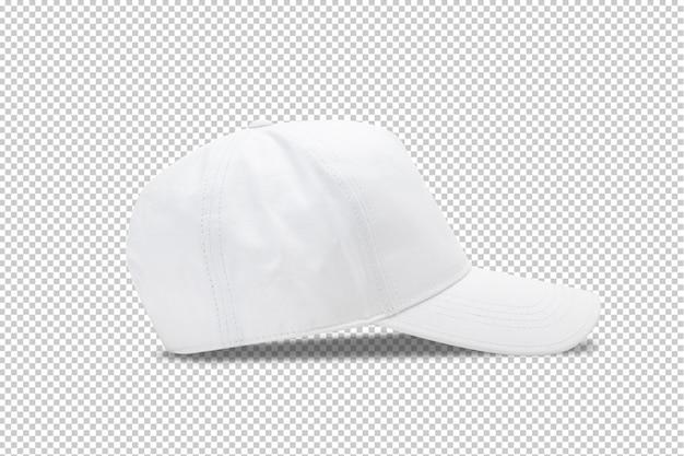 Witte baseball cap sjabloon op transparant.