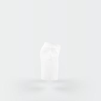 Witte broek drijvend op wit