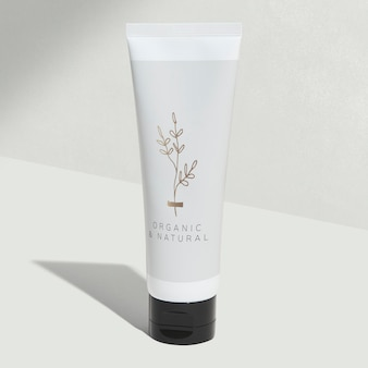 Witte buis voor schoonheidsverzorging