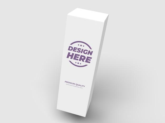 Witte hoge doos pakket mockup
