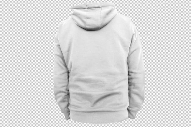 Witte hoodie met geïsoleerde achterkant