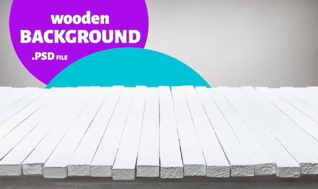 Witte houten tafel voor product