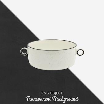 Witte keramische pot op transparant