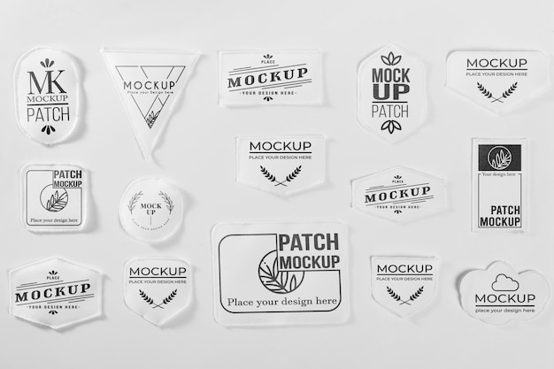 Witte kleding patch collectie