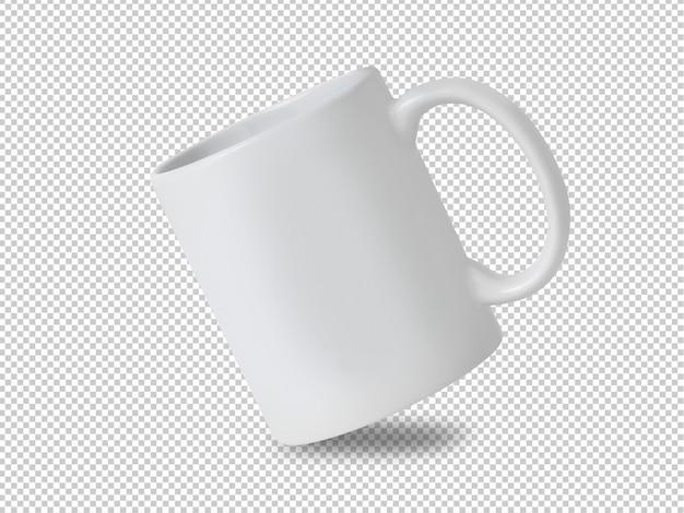 Witte mok cup mockup op transparant.