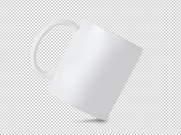 Witte mok cup mockup op transparant