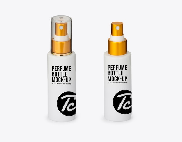 Witte parfum spray fles mockup