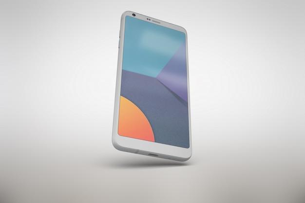 Witte smartphone bespot