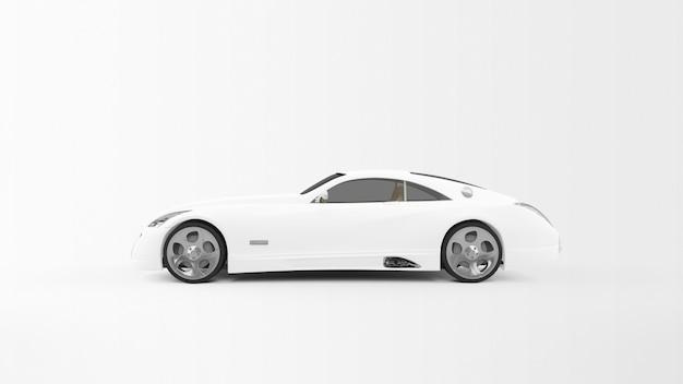 Witte sportwagen