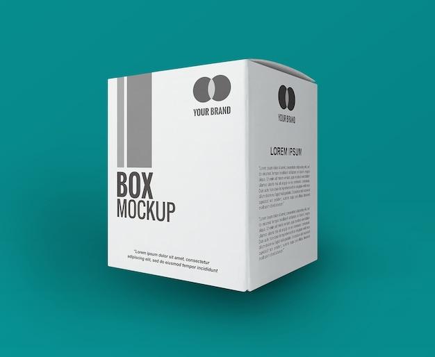Witte vierkante doos mockup geïsoleerd
