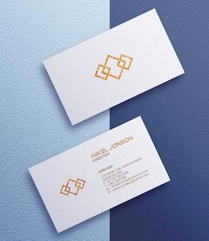 Witte visitekaartje logo mockup