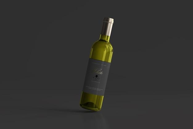 Witte wijnfles mockup