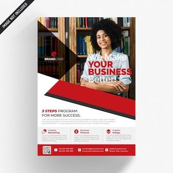 Witte zakelijke flyer met rode details