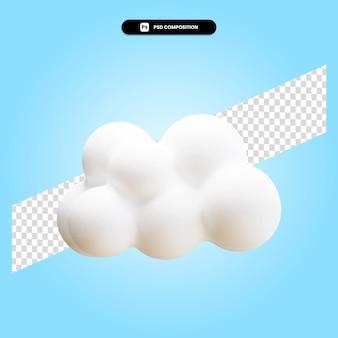 Wolk 3d render illustratie geïsoleerd