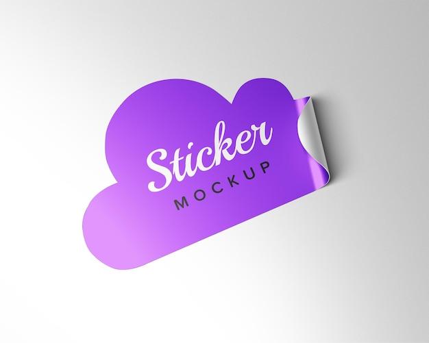 Wolk sticker mockup ontwerp