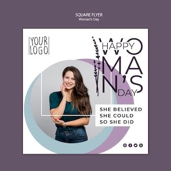 Womans day design per modello di volantino
