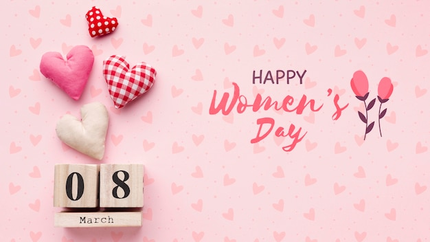 Womens dag datum tag op tafel