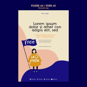 Womens dag poster sjabloon
