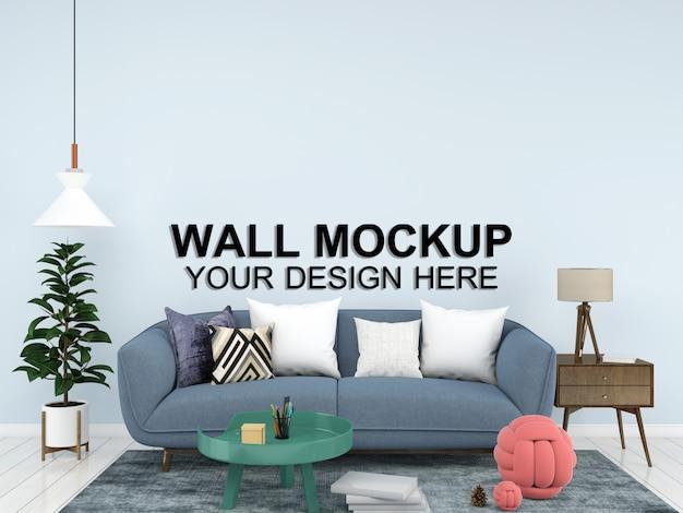 Woonkamer interieur huis mockup vloer meubilair achtergrond