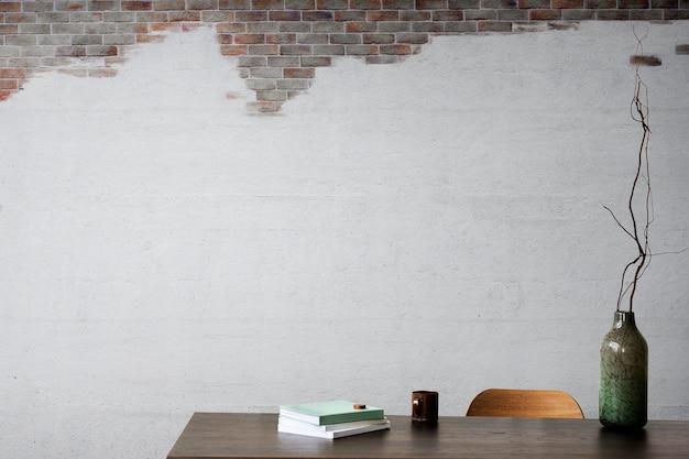 Woonkamer muur mockup psd loft interieurontwerp