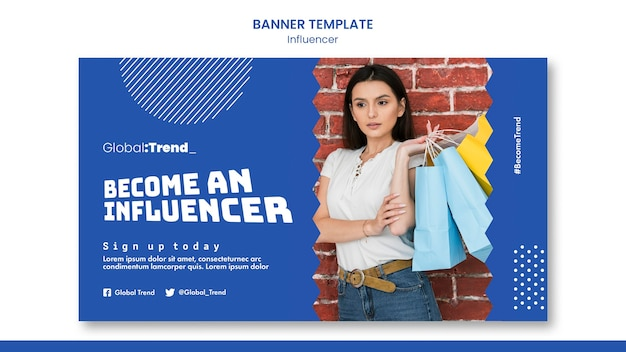 Word een influencer-bannermalplaatje