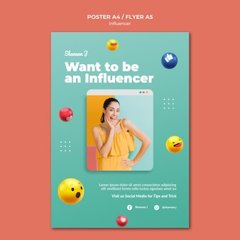 Word influencer-postersjabloon