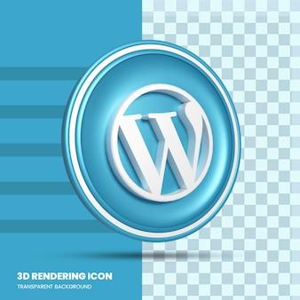 Wordpress 3d-rendering icoon