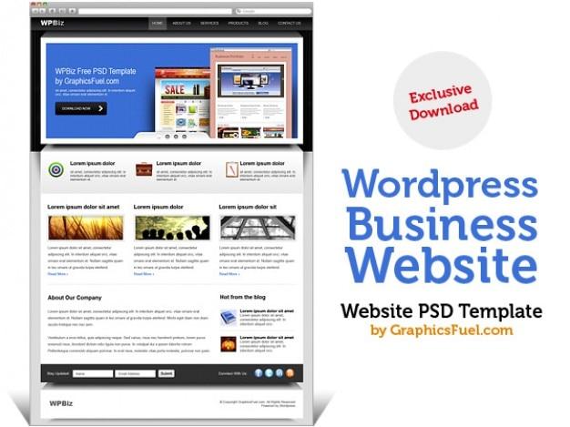 Wordpress zakelijke website psd template