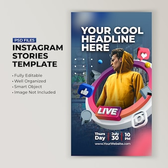 Workshop di live streaming instagram post modello di post sui social media