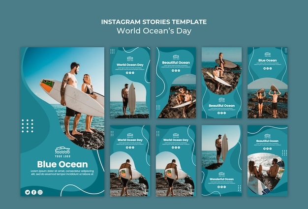 World ocean's day instagram-verhalen