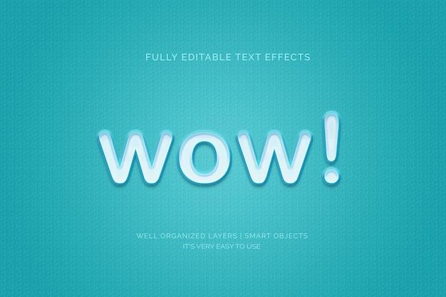 Wow efecto de estilo de texto 3d
