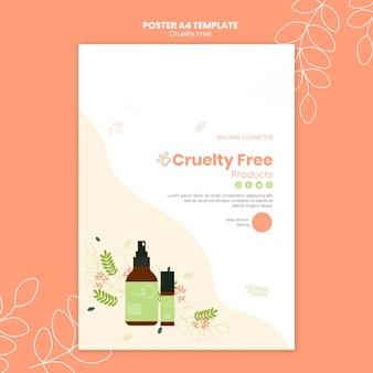 Wreedheid gratis producten poster sjabloon