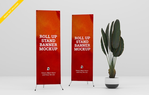 X-banner stand mockup.