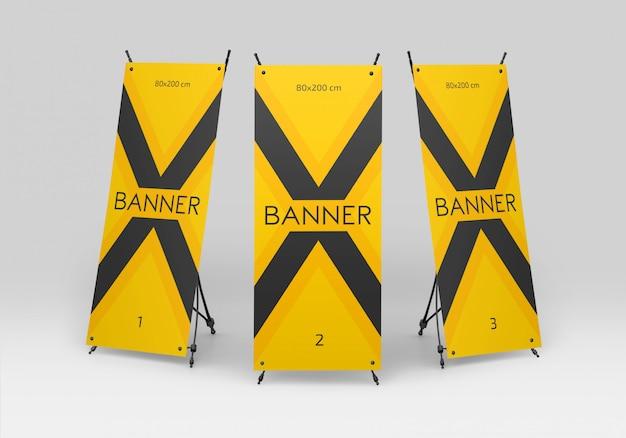 X maqueta de banner