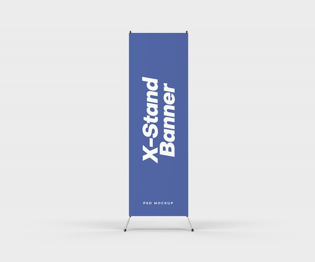 X-stand banner mockup
