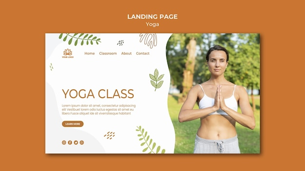 Yoga-bestemmingspagina-sjabloon