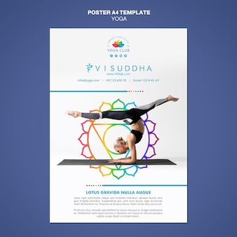 Yoga concept poster sjabloon