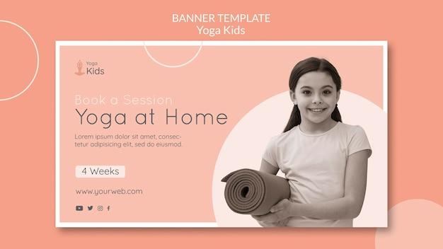Yoga concept sjabloon voor spandoek