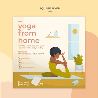 Yoga flyer sjabloon