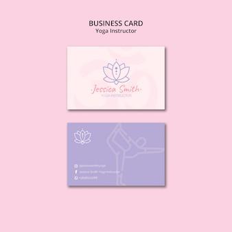 Yoga instructeur visitekaartje