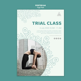 Yoga klas poster sjabloon concept