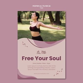 Yoga klasse poster sjabloon
