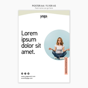 Yoga klasse remedie flyer-sjabloon