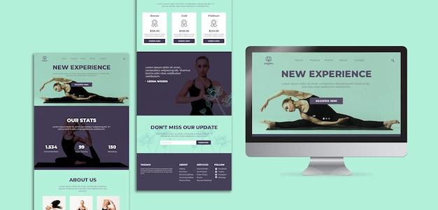 Yoga nieuwe ervaring concept sjabloon
